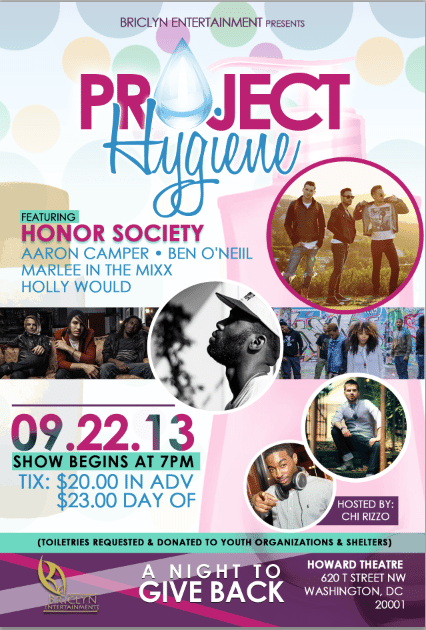 Project Hygiene 9.22 flier