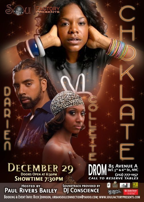 Live Shows: Darien Dean, Collette & Choklate Perform at Drom NYC Tonight!