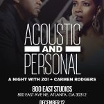 Live Shows/Reviews: A Night with Zo! + Carmen Rodgers in Atlanta